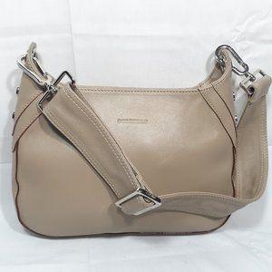 New BURBERRY Tan Leather Small Hobo Bag